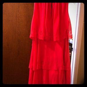 Cute loose Jessica Simpson  coral dress!
